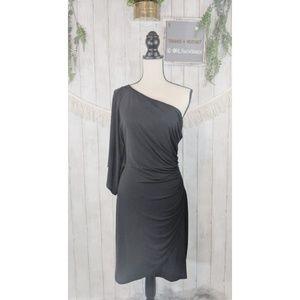 B. Smart long dress, off the shoulder, bat sleeve